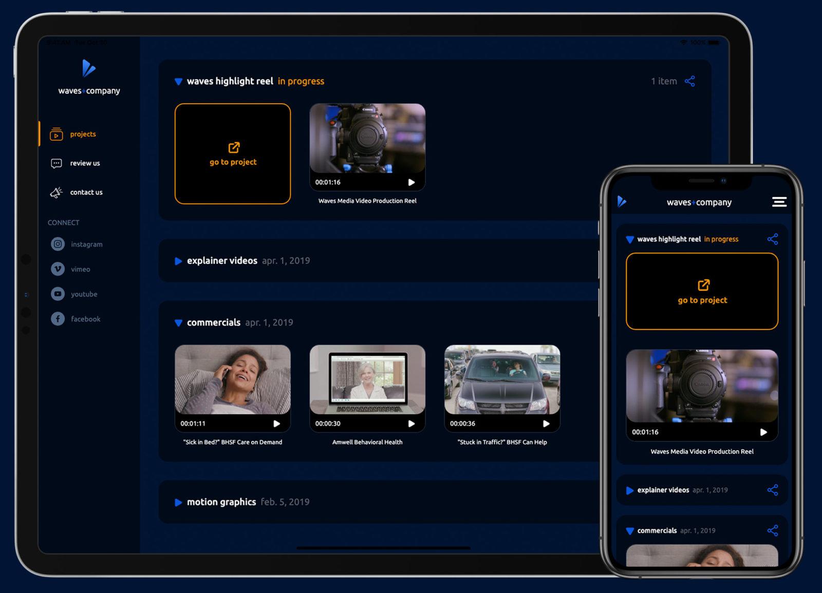 Southern California Video Company Waves Media Company Portals